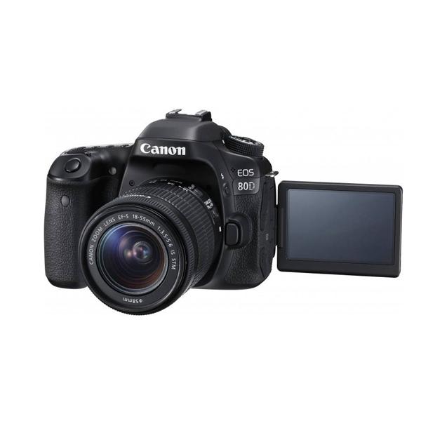 دوربین عکاسی کانن Canon 80D با لنز ۵۵-۱۸ IS STM