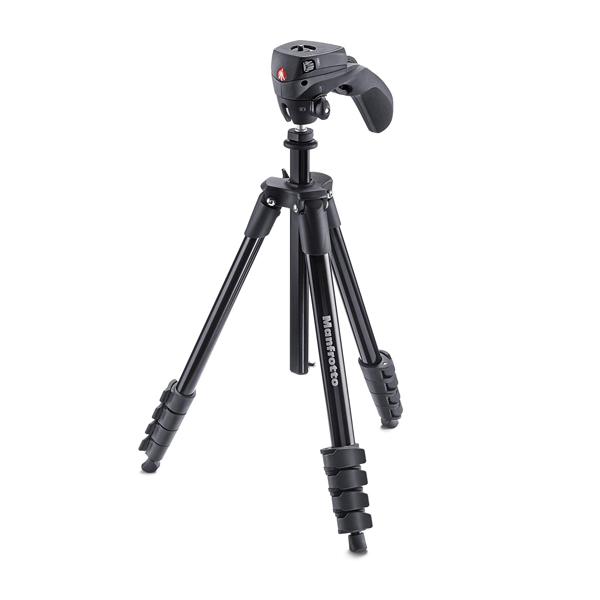 سه پایه دوربین حرفه ای مانفروتو Manfrotto MKCOMPACTACN-BKCompact Action