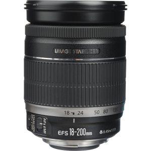 لنز کانن used) Canon EF-S 18-200mm f/3.5-5.6 IS)