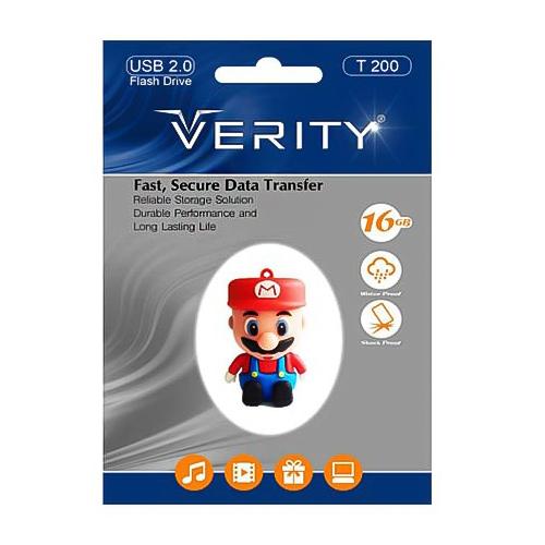 فلش مموری عروسکی ۱۶ گیگ وریتی مدل Flash Memory Verity T200 16GB USB2