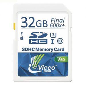 کارت حافظه SDHC ویکومن مدل Extra 600X کلاس ۱۰استاندارد UHS-I سرعت ۹۰MB/S U3 4Kظرفیت ۳۲ گیگابایت