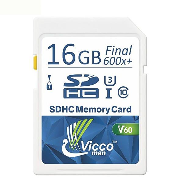 کارت حافظه SDHC ویکومن مدل Extra 600X کلاس ۱۰استاندارد UHS-I سرعت ۹۰MB/S U3 4Kظرفیت ۱۶ گیگابایت