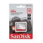 کارت حافظه سی اف سن دیسک ۳۲ گیگ ۳۳۳X