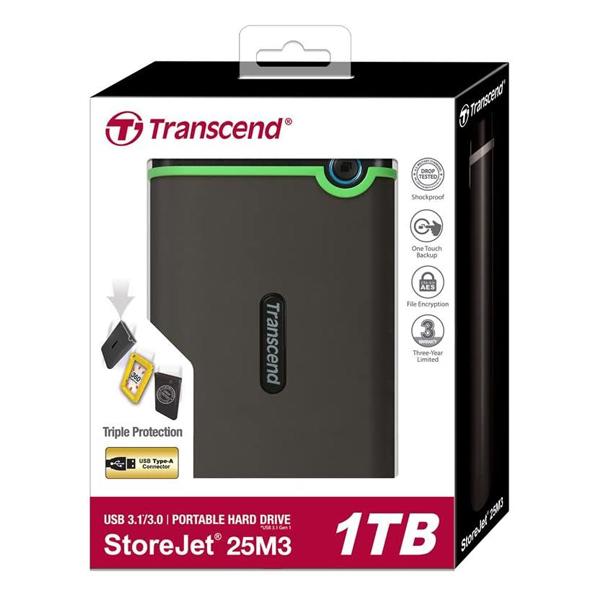 هارد اکسترنال ۱ ترابایت ترنسند Transcend Storjet 25M3 1TB