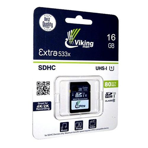 کارت حافظه اس دی SD VIKING MAN 16GB 533X U1