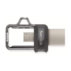 فلش مموری ۶۴G سن دیسک USB Flash M3 OTG Sandisk 64GB USB 3