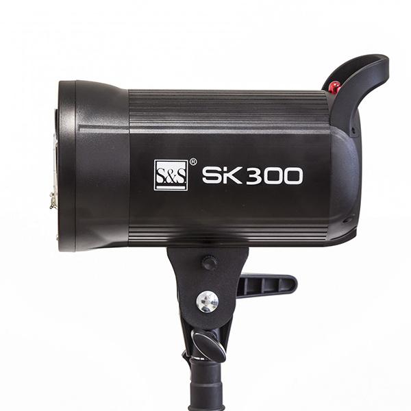 کیت فلاش چتری استودیویی ۳۰۰ ژول S&S SK-300