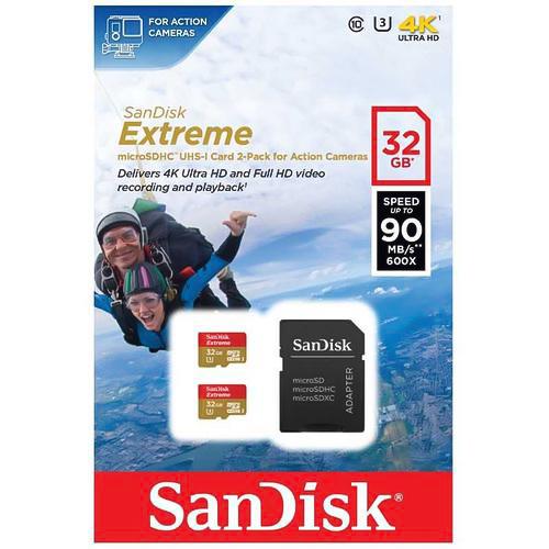 رم میکرو اس دی سن دیسک ۳۲ گیگابایت ۹۰MB Extreme 4K U3