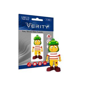 فلش مموری عروسکی ۸ گیگ وریتی مدل Flash Memory Verity T203 8GB USB2